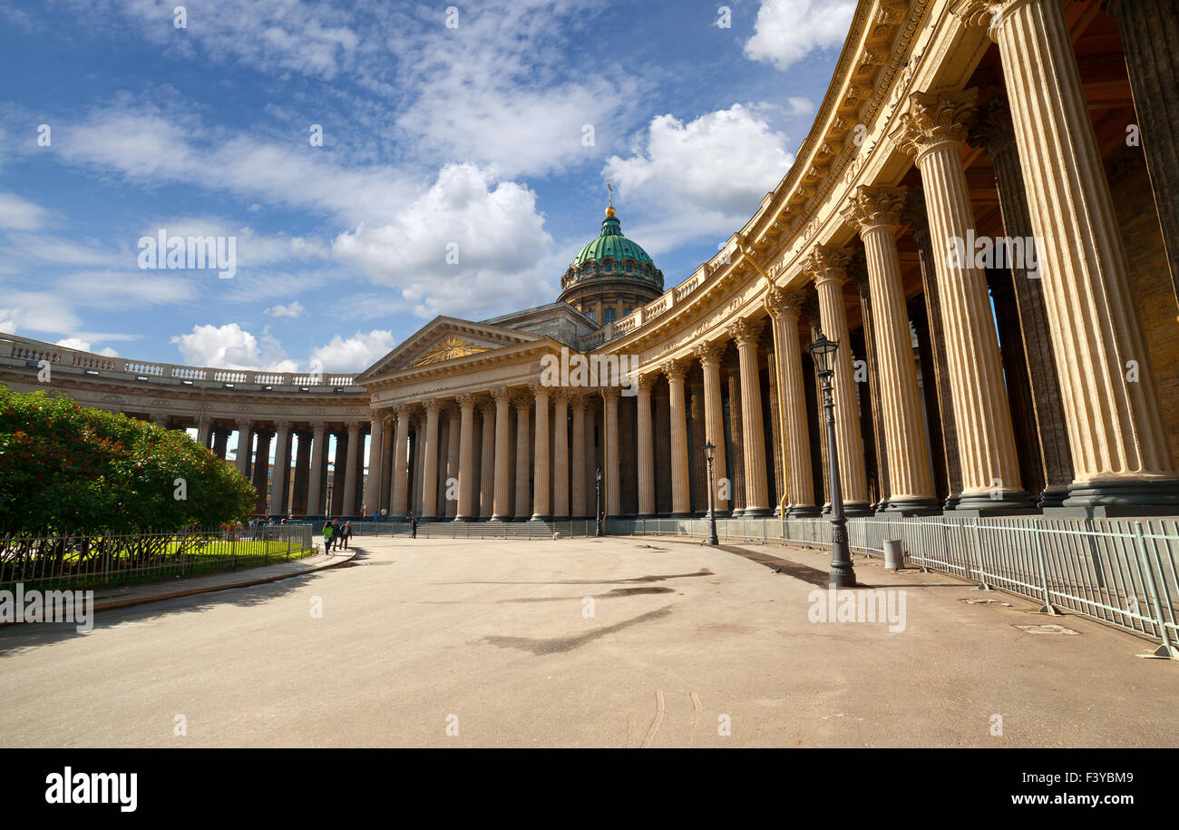 La Cathédrale de Kazan de Saint-Pétersbourg Photo Stock
