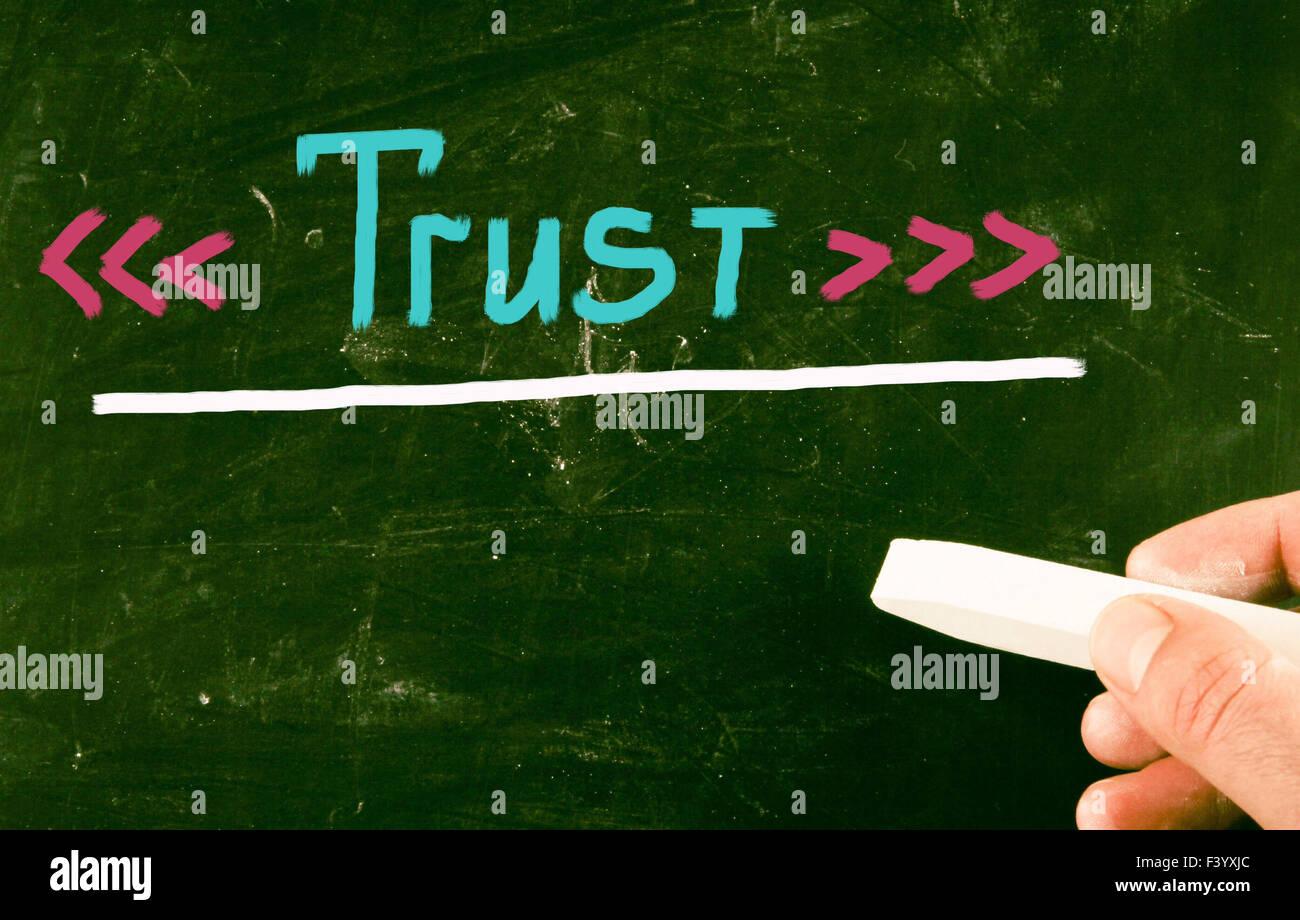 notion de confiance Photo Stock
