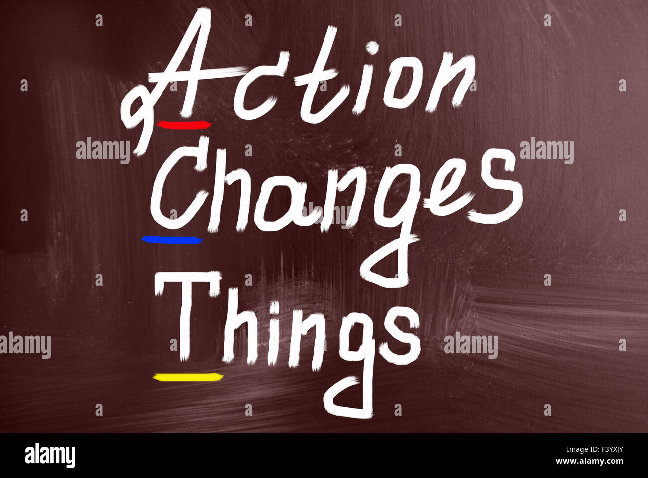Concept action changer les choses Photo Stock