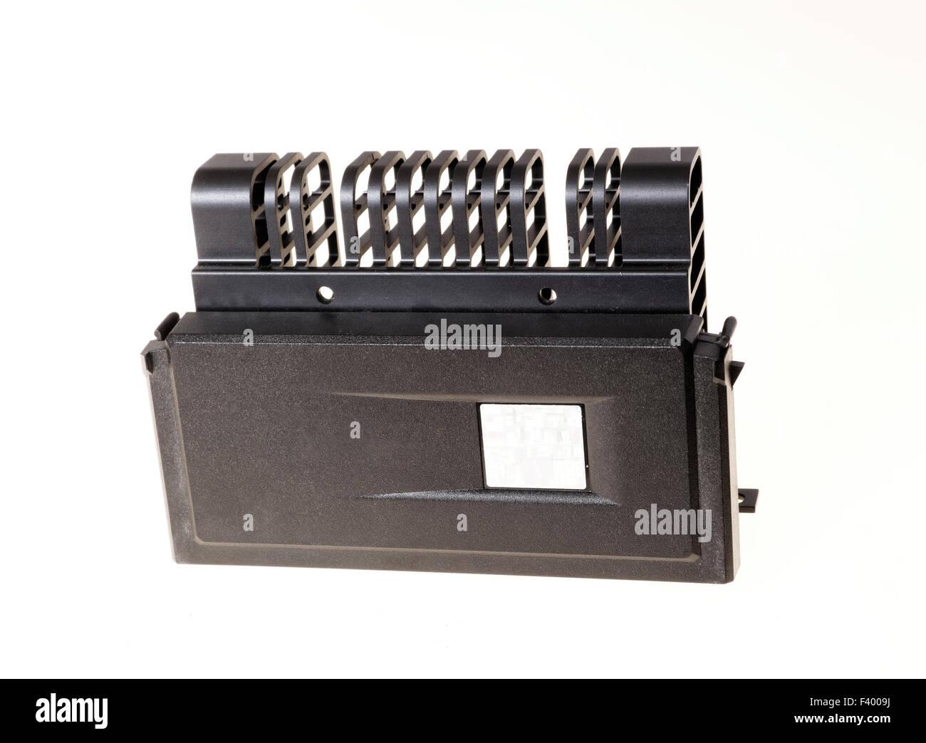 Photo d'un ancien processeur dissipateur thermique passif Photo Stock