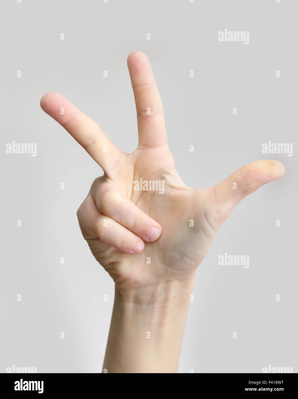 trois doigts Photo Stock