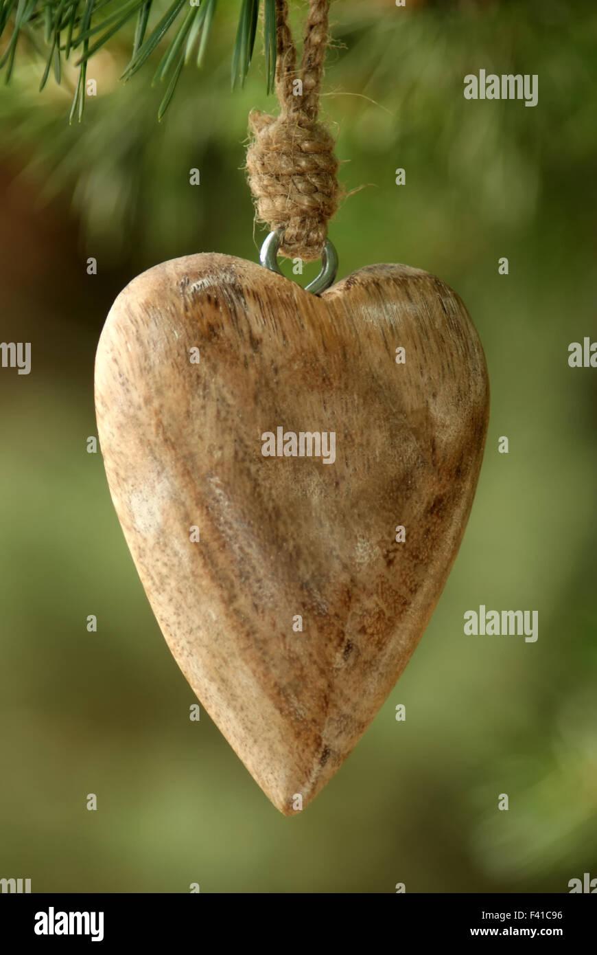 Coeur de bois Photo Stock