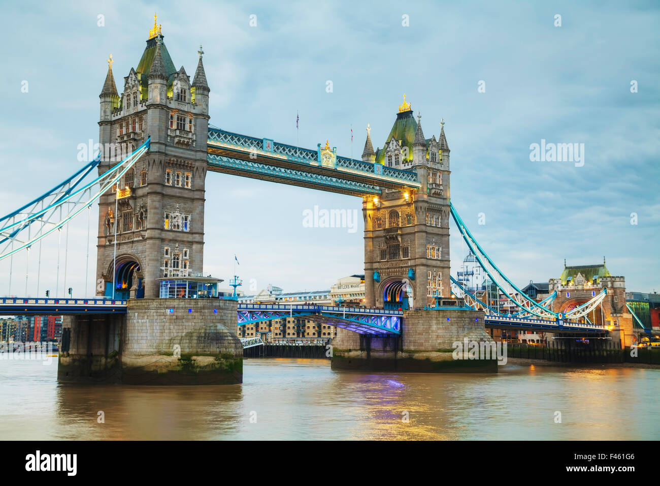 Tower Bridge à Londres, Grande-Bretagne Photo Stock