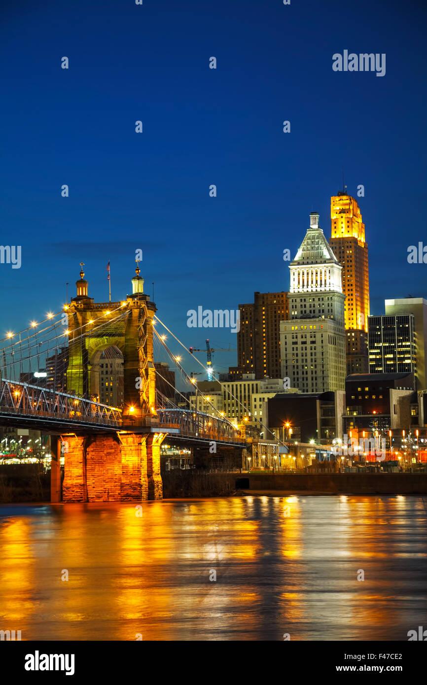 Le centre-ville de Chicago cityscape Photo Stock
