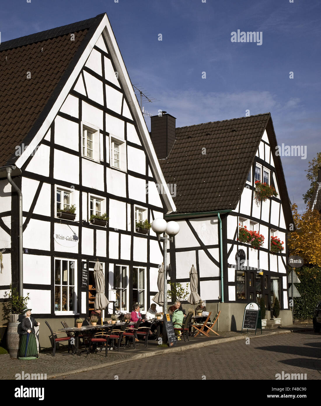 Maisons à colombages, Herdecke, Allemagne. Photo Stock