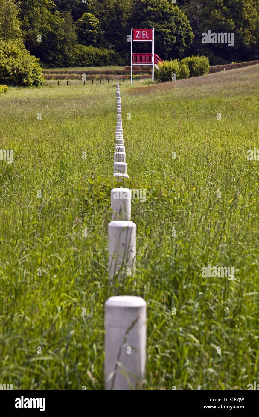 Hippodrome d'obstacle naturel, Castrop-Rauxel Photo Stock