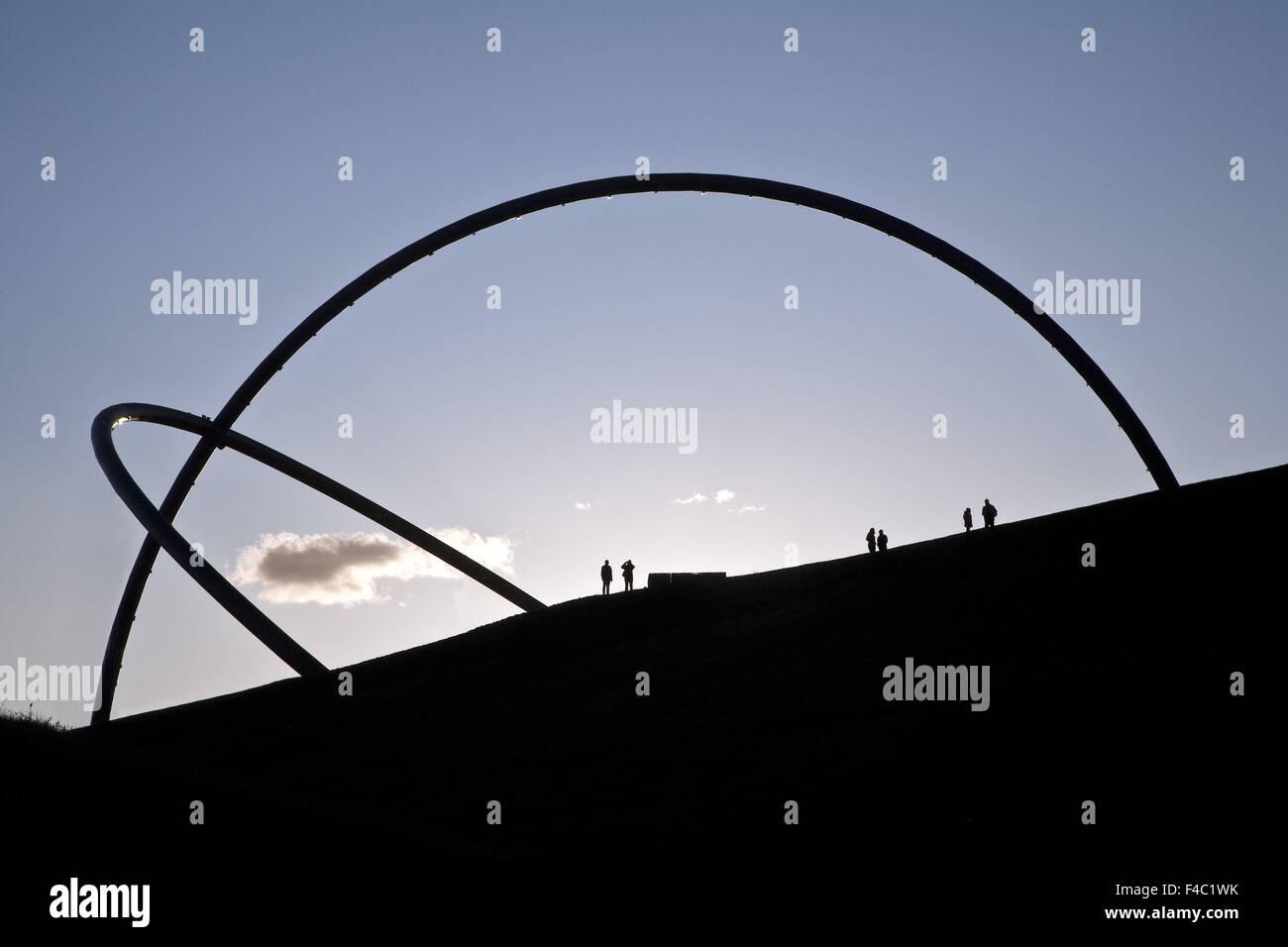Observatoire de l'horizon, Hoheward, Herten, Allemagne Photo Stock