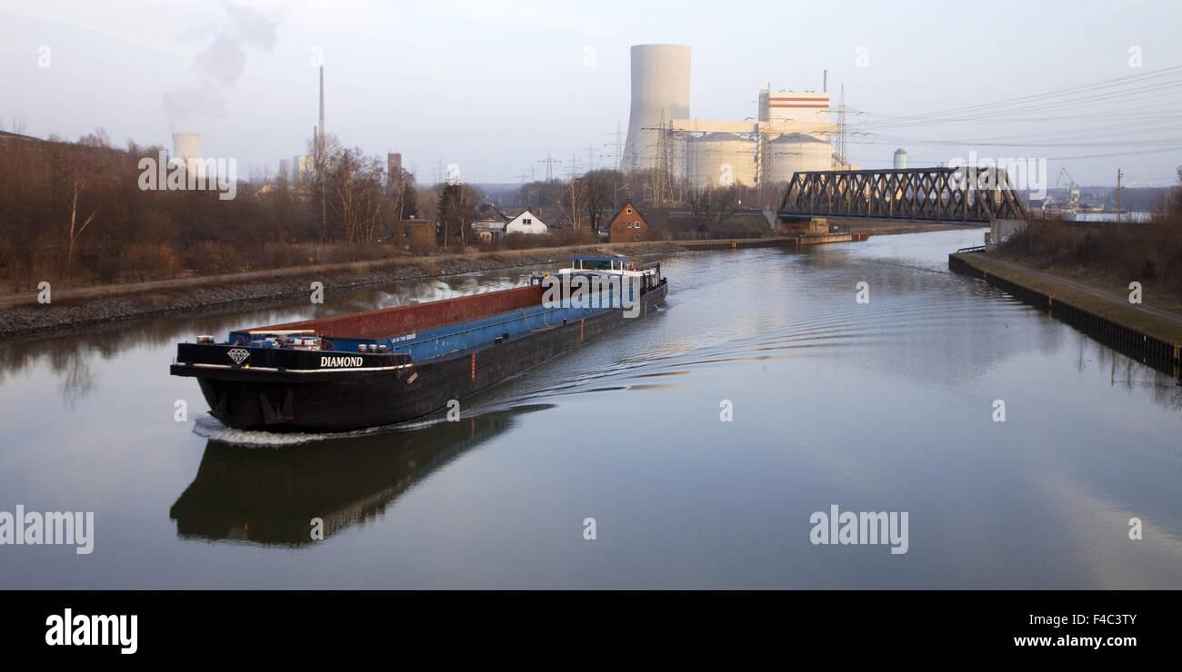 Castrop-rauxel Hamm, canal de Waltrop Photo Stock
