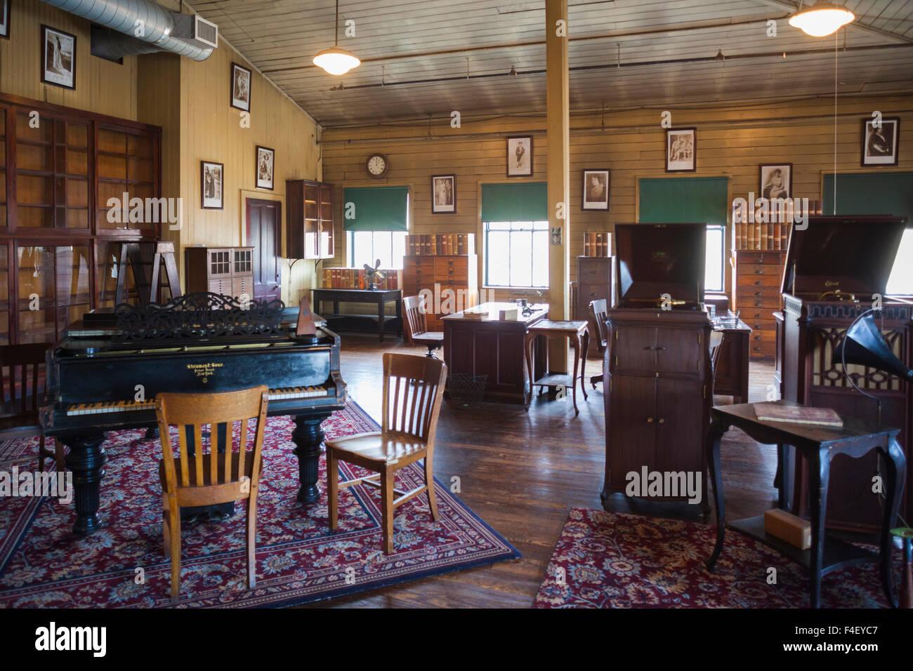 USA, New Jersey, West Orange, Thomas Edison National Historical Park, de l'intérieur, la salle de musique Banque D'Images