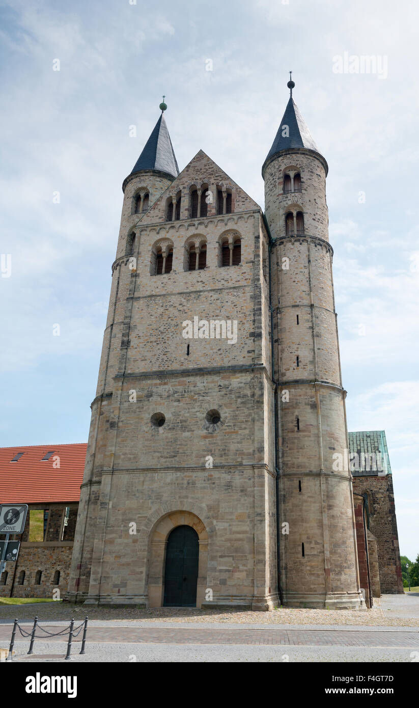 Complexe du monastère de Notre bien-aimé Chers Kloster Unser Lieben Frauen () à Magdebourg, Allemagne Photo Stock