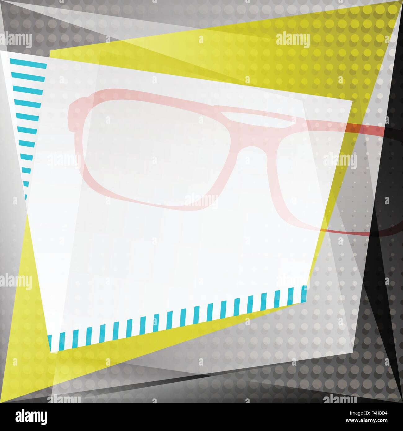 10219fe109 Résumé fond avec lunettes de soleil et de texture du papier et cadre blanc.  mode