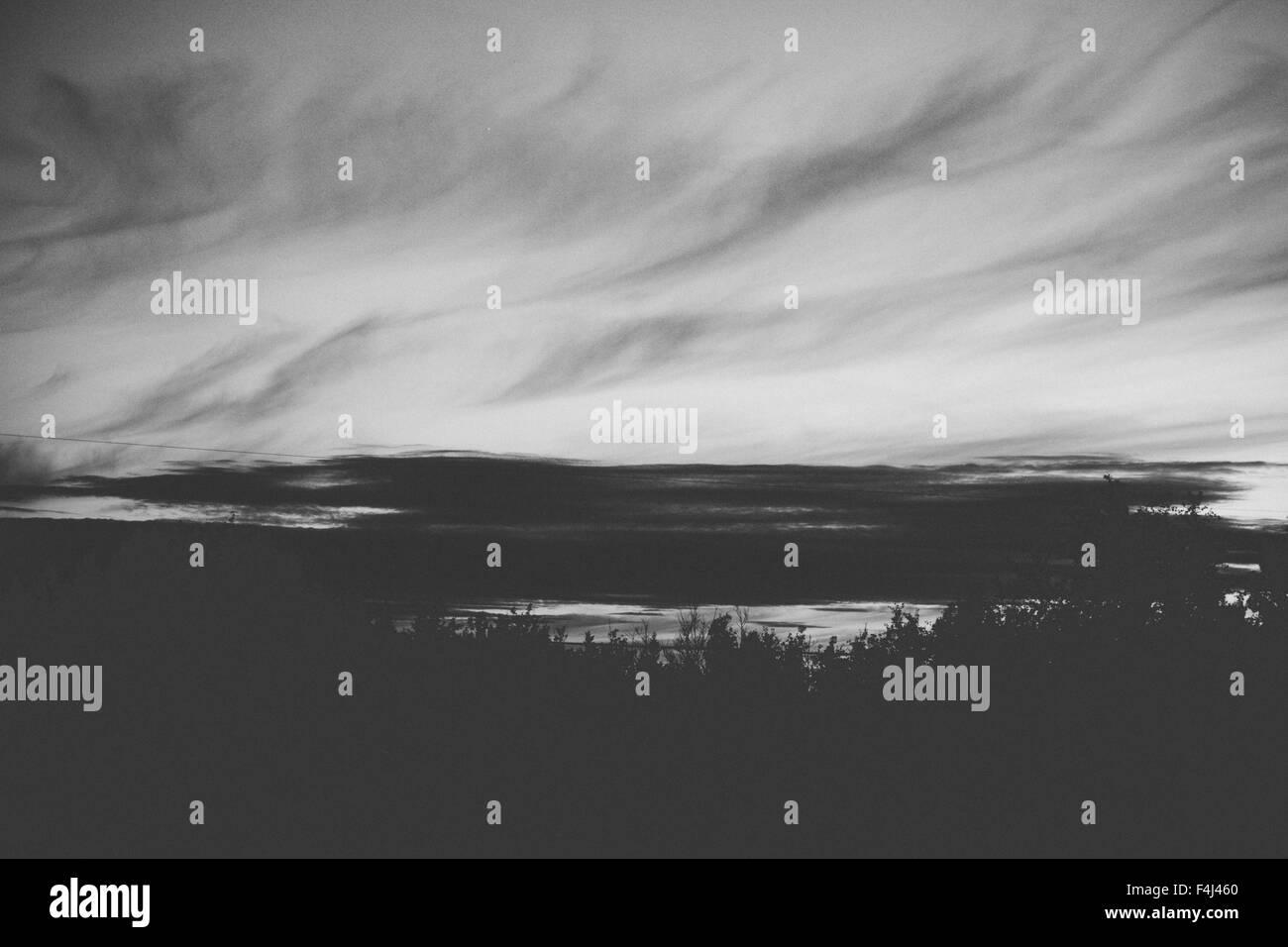 Fine art photo d'un coucher du soleil au Canada Banque D'Images