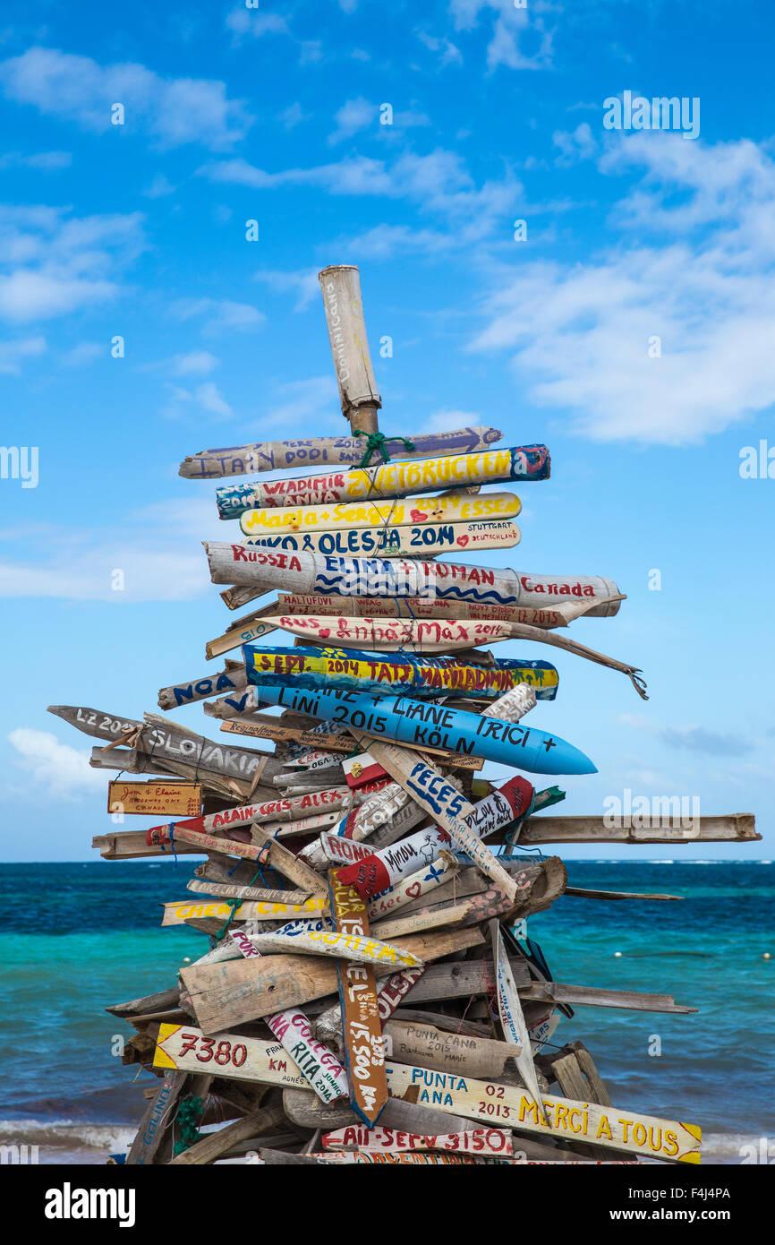 Playa Cabeza de Toro, Punta Cana, République dominicaine, Antilles, Caraïbes, Amérique Centrale Photo Stock