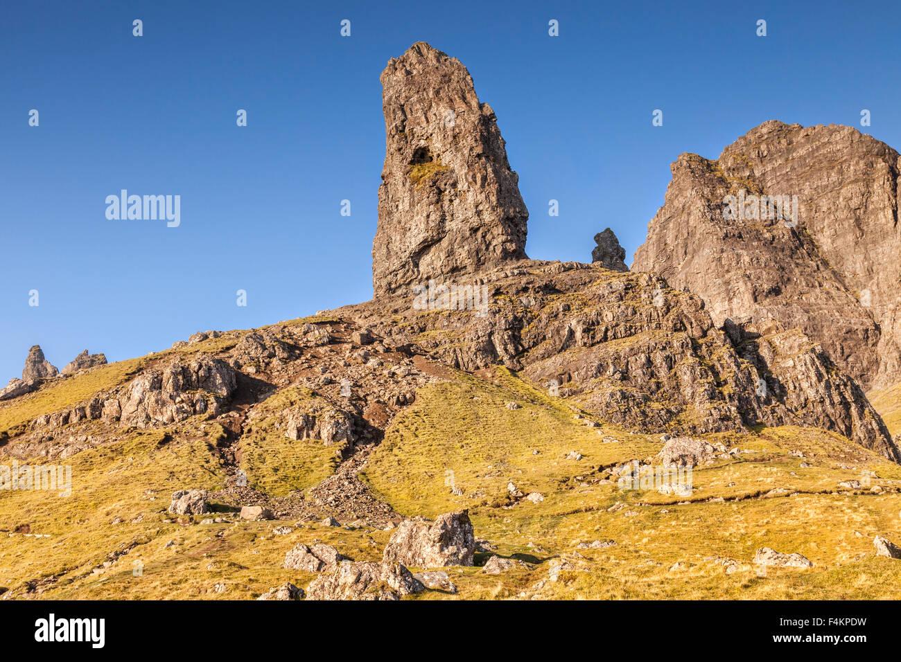 Vieil Homme de Storr, île de Skye, Hébrides intérieures, Ecosse, Royaume-Uni Photo Stock