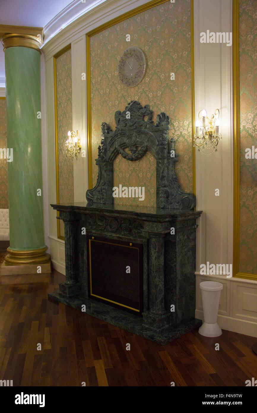 Cheminee Ancienne Decorative Vintage Retro Interieur Ancien Banque D