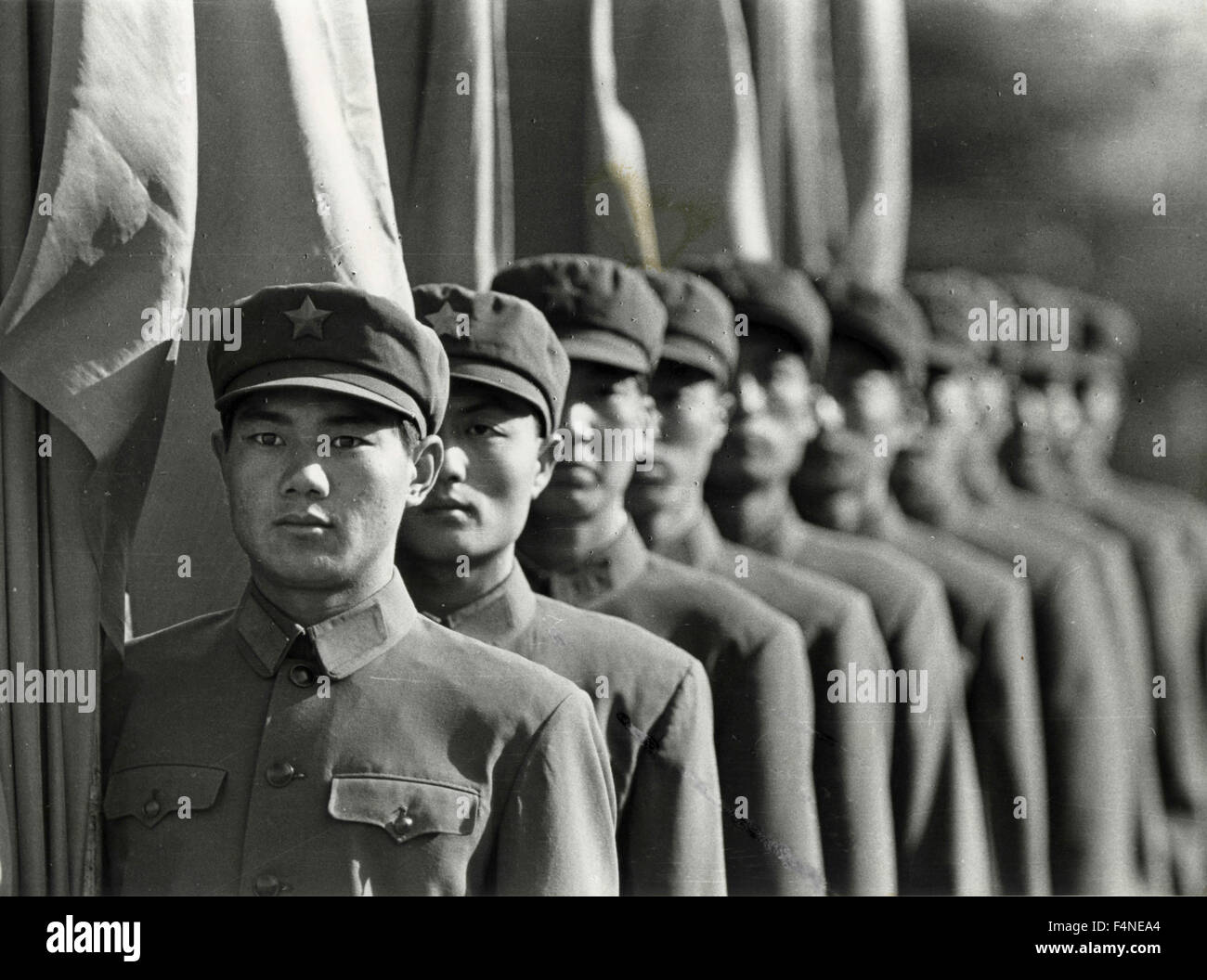 La garde d'honneur sur la place de la paix céleste, Beijing, Chine Photo Stock