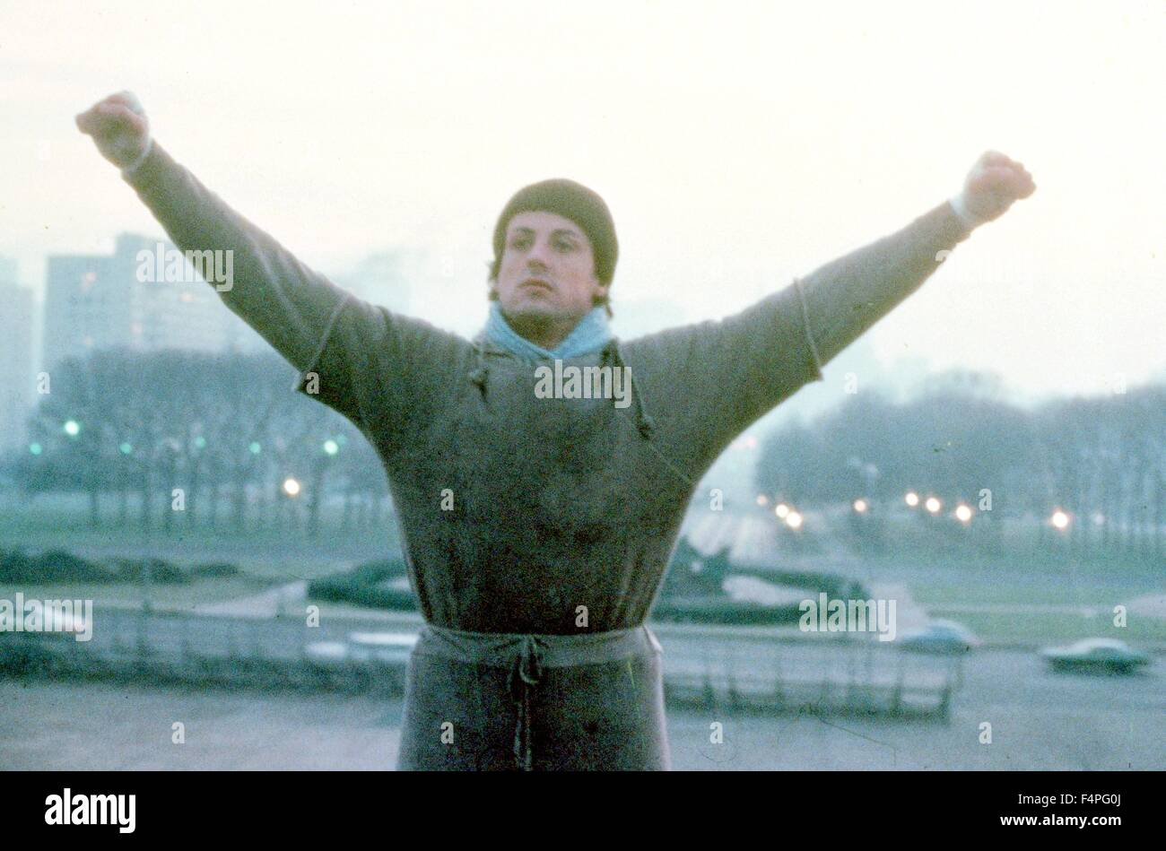 Sylvester Stallone / Rocky / 1976 réalisé par John G. Avildsen Photo Stock