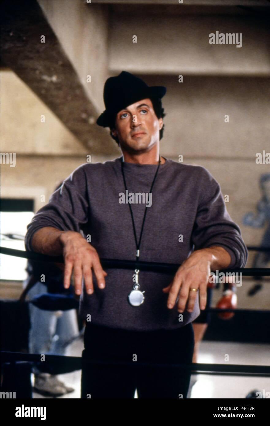 Sylvester Stallone / Rocky V / 1990 réalisé par John G. Avildsen Photo Stock