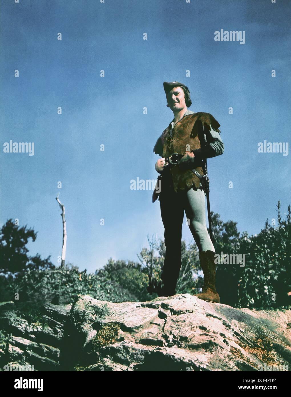 Errol Flynn / Les aventures de Robin des Bois / 1938 réalisé par Michael Curtiz et William Keighley [Photos] Photo Stock