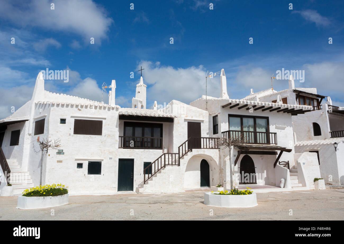 Îles Baléares, Binibeca, village de pêcheurs, Paysage, Minorque, île, ancien Binibeca, l'Espagne, l'Europe, Arch, Banque D'Images