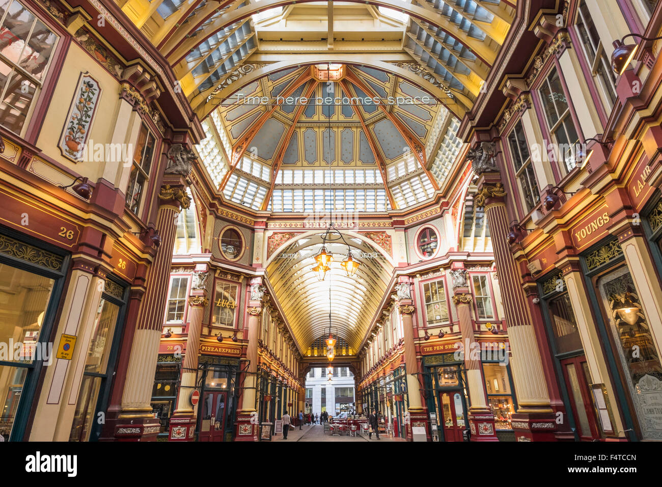 L'Angleterre, Londres, ville, Leadenhall Market Photo Stock