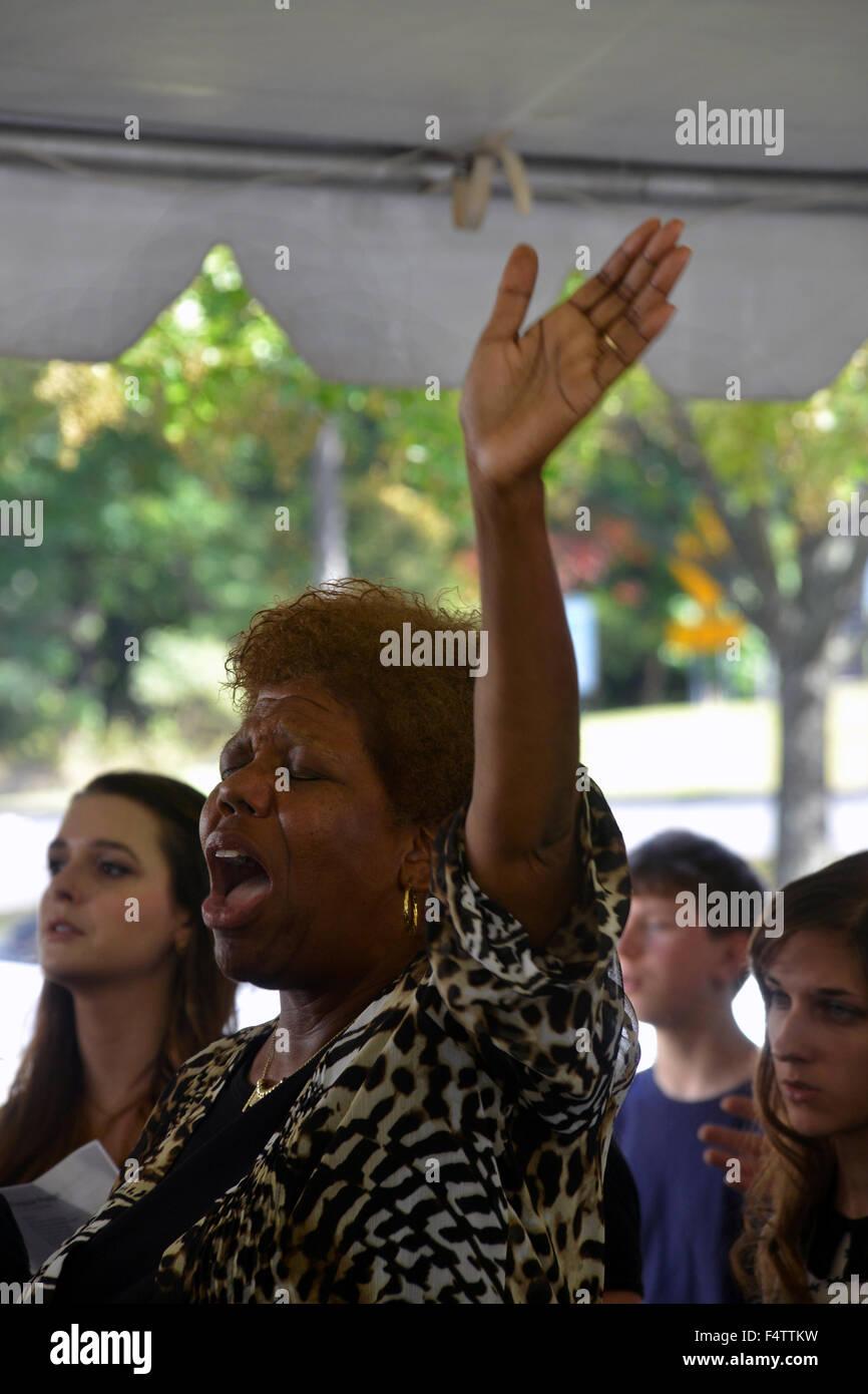 Femme plus l'adoration de Dieu, Photo Stock