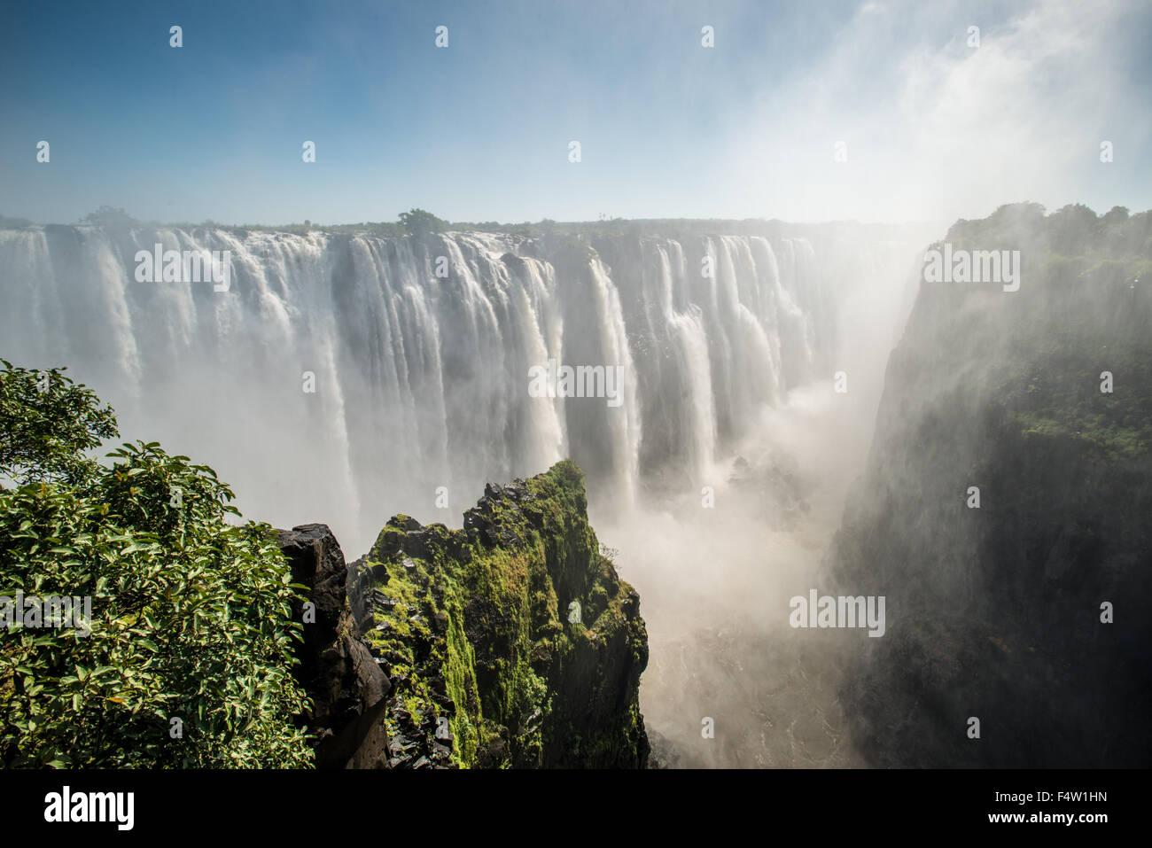 Victoria Falls, Zimbabwe - Victoria Falls Cascade Photo Stock