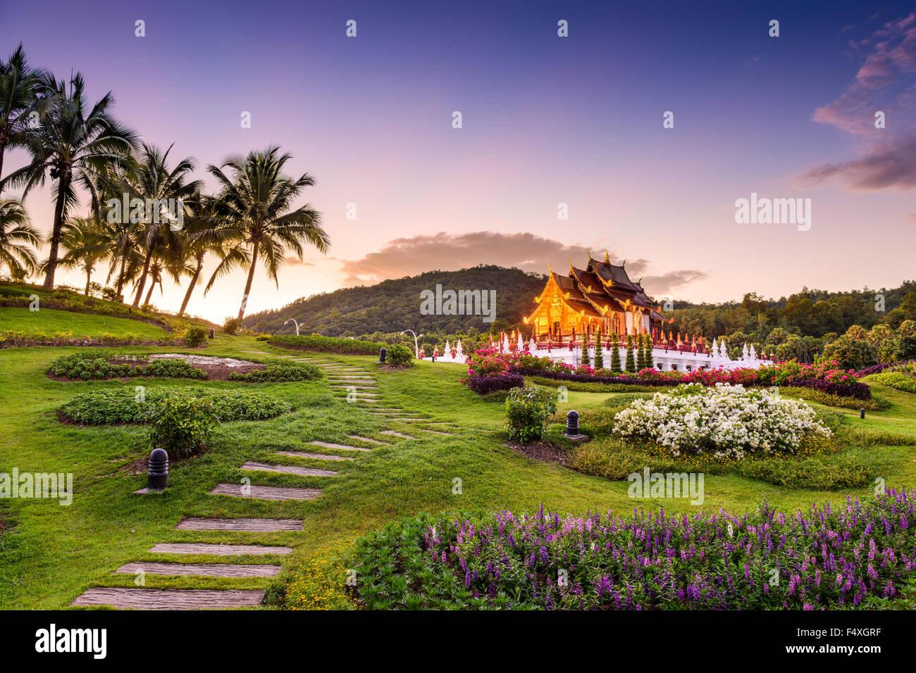 Chiang Mai, Thaïlande au Royal Flora Ratchaphruek Park. Photo Stock