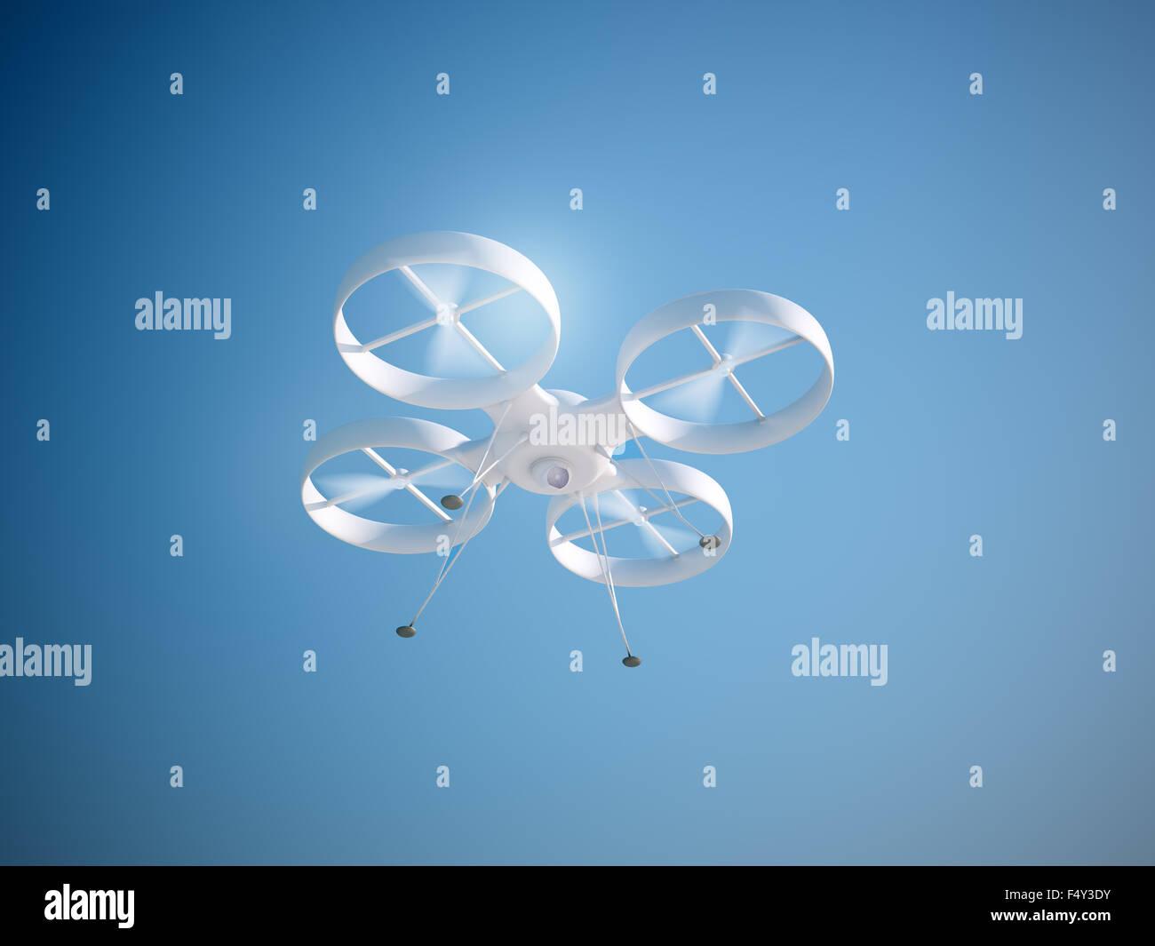Le pilotage d'un drone quadcopter RC Banque D'Images