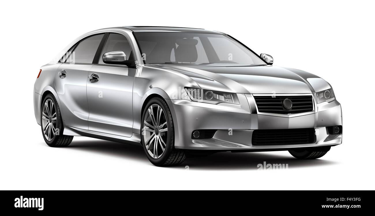 Silver car générique Photo Stock