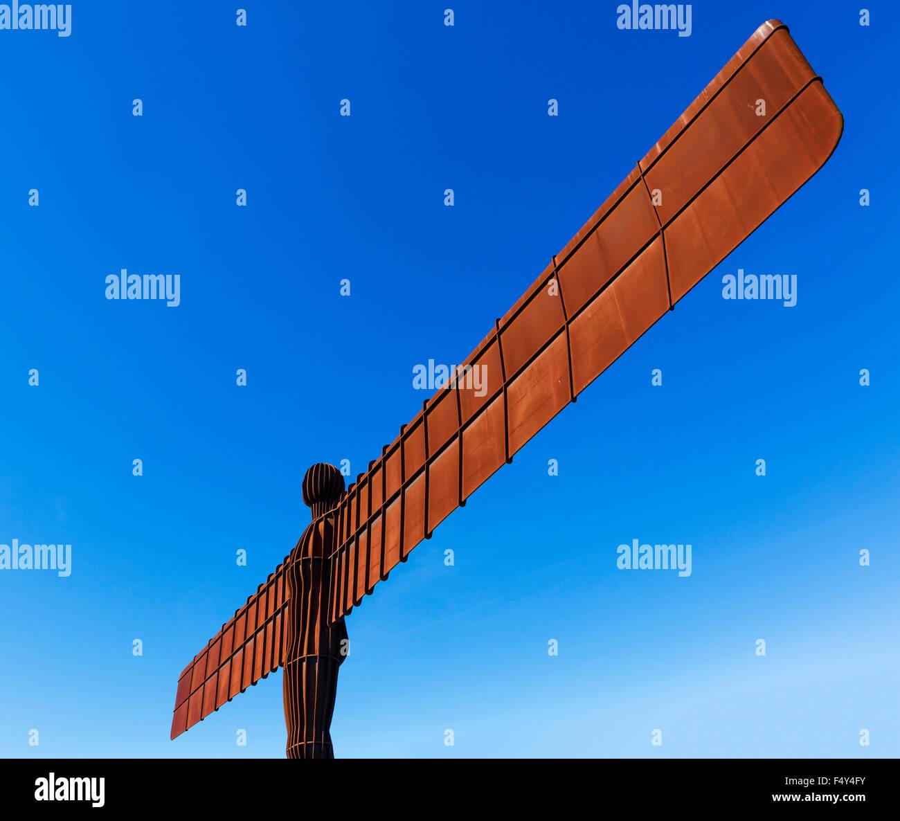 L'Ange de la sculpture du Nord par Antony Gormley, Gateshead, Tyne et Wear, Angleterre du Nord-Est, Royaume Photo Stock