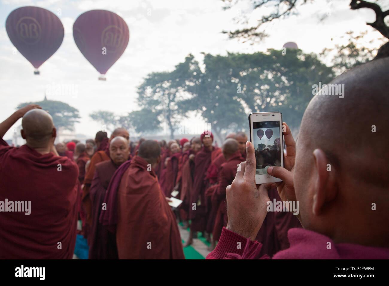 La pagode Ananda fêtes à Bagan Photo Stock