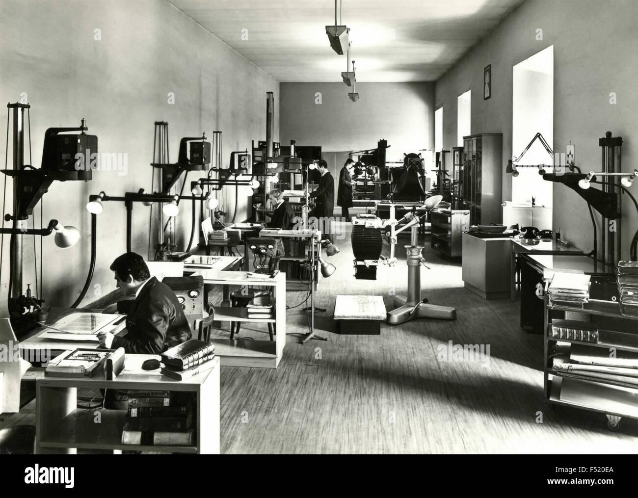 Laboratoire Photographique de la bibliothèque du Vatican , Vatucan City Photo Stock
