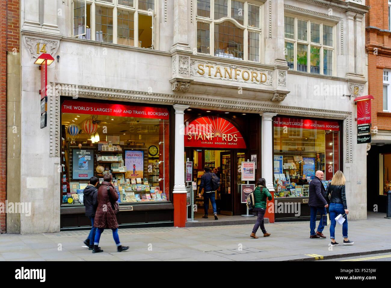 Stanfords site et voyage librairie, Long Acre, Covent Garden, Londres, UK Photo Stock