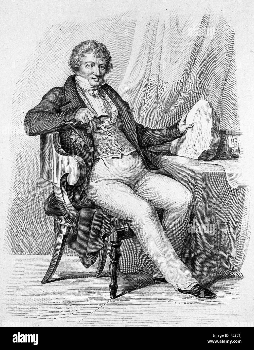 GEORGES Cuvier (1769-1832) naturaliste français spécialisé dans les études de fossiles Photo Stock