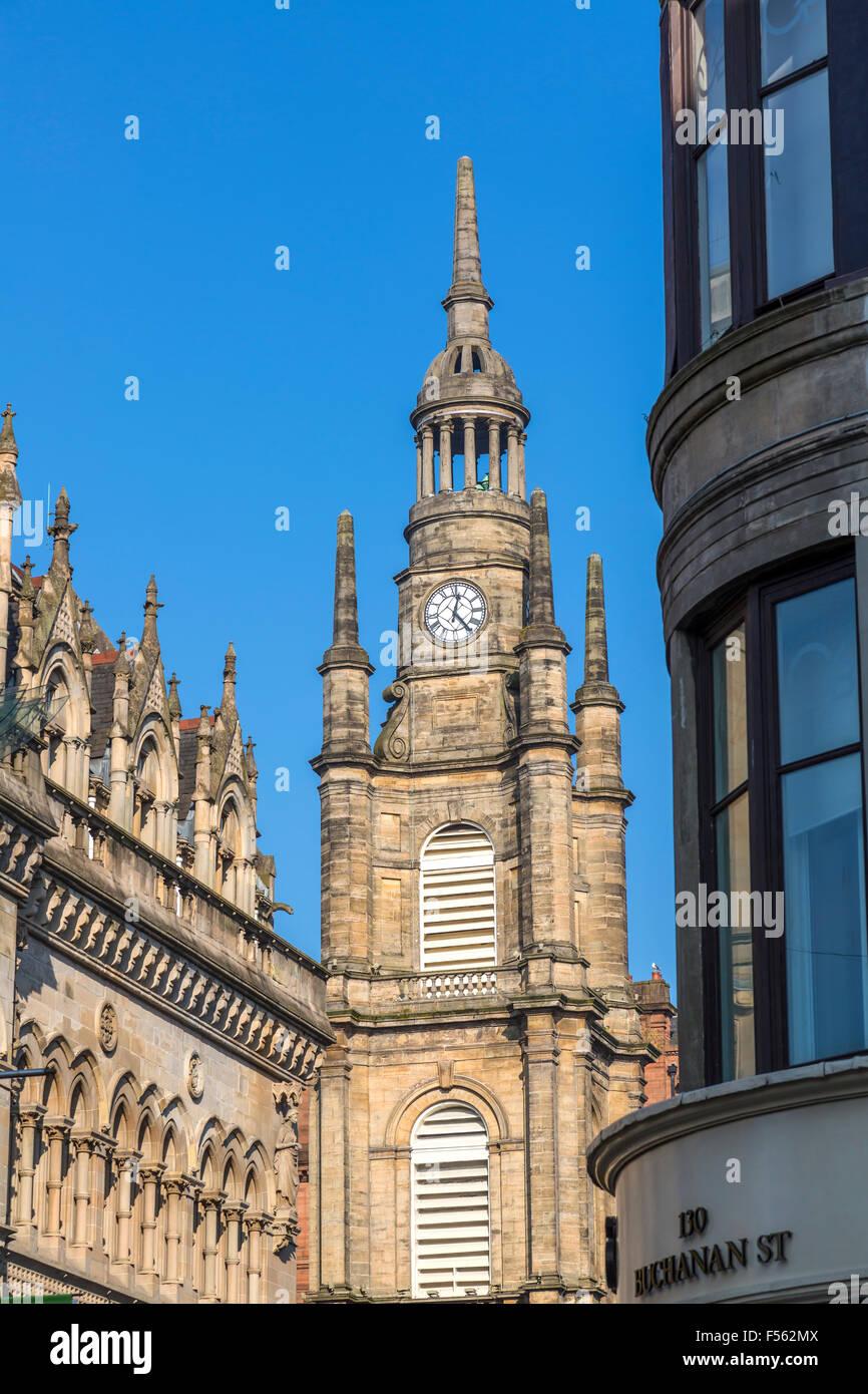 St. George's Tron Church Glasgow Steeple, Buchanan Street / Nelson Mandela place, Écosse, Royaume-Uni Banque D'Images