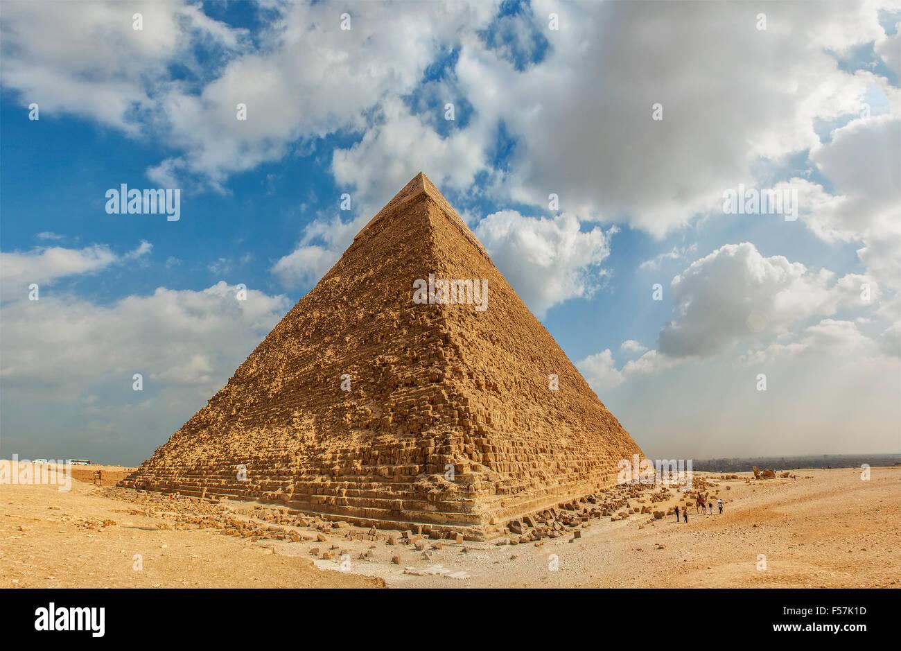 Image de la grande pyramide de Gizeh. Le Caire, Égypte. Photo Stock