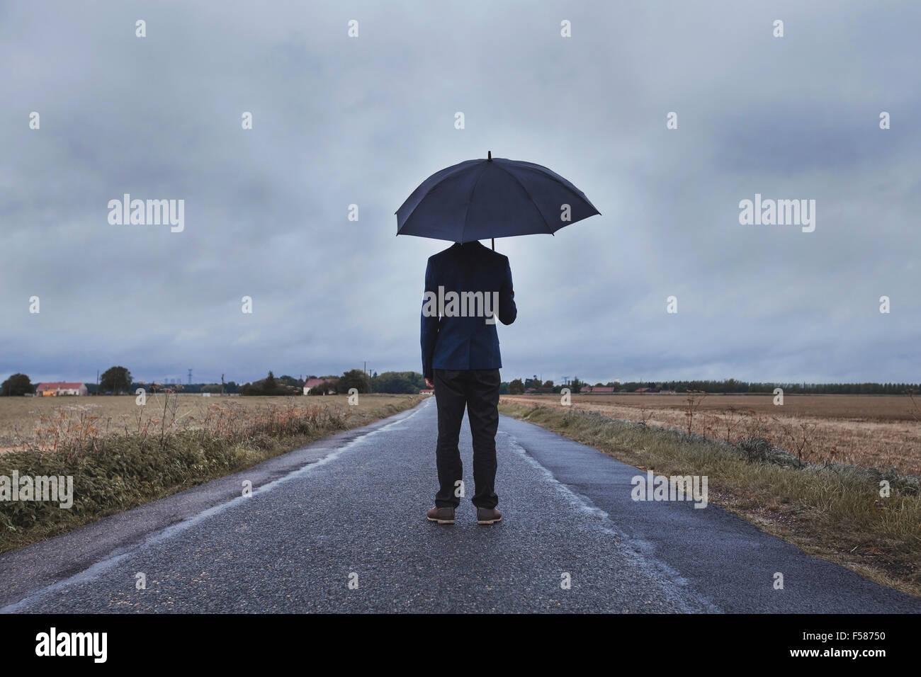 Craintes et évolution du concept de vie, couleurs fanées Photo Stock