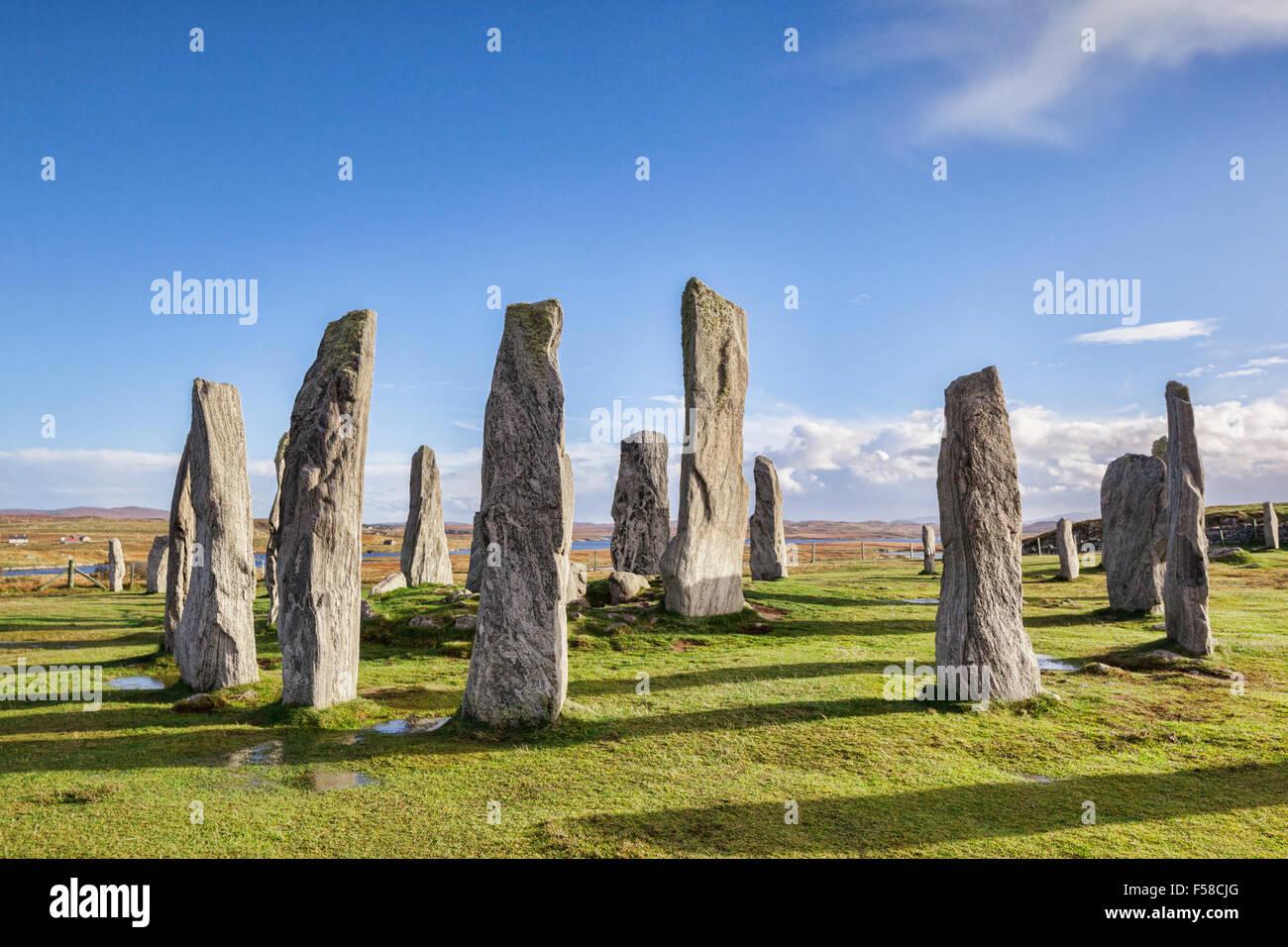 Stone Circle à Callanish, Isle Of Lewis, Western Isles, îles Hébrides, Ecosse, Royaume-Uni Photo Stock