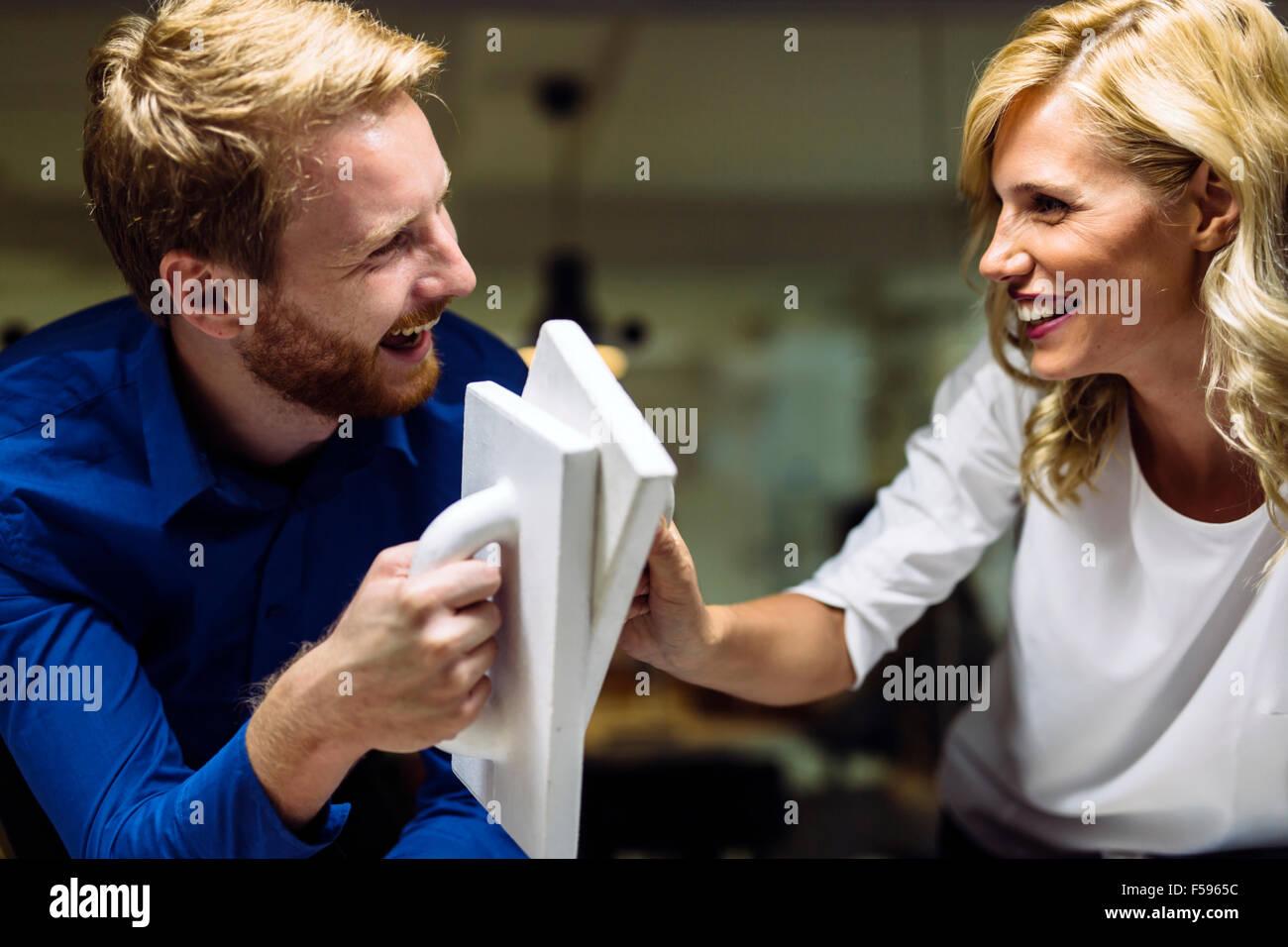 La collaboration et l'autodétermination mène au succès Photo Stock