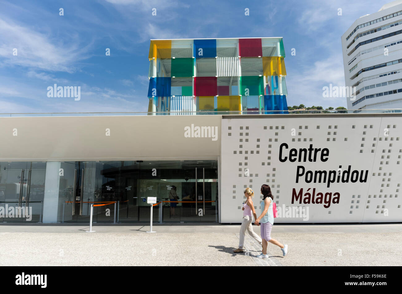 Malaga, Espagne. Centre Pompidou Málaga. Photo Stock
