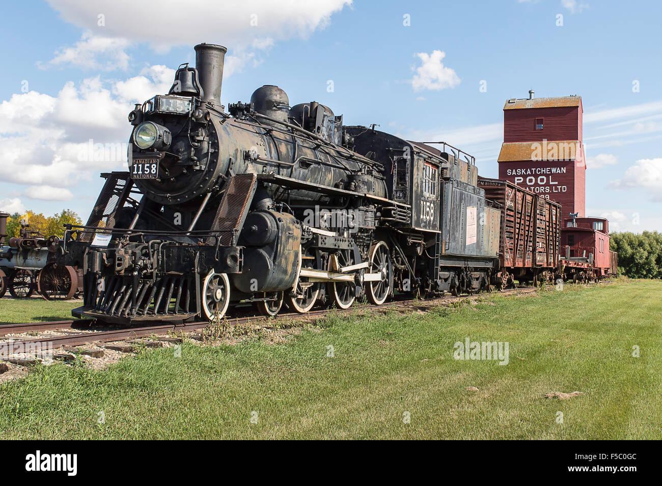 Cette ancienne locomotive à vapeur, connu sous le nom de 10 wheeler ou un type 4-6-0, a été un favori Photo Stock
