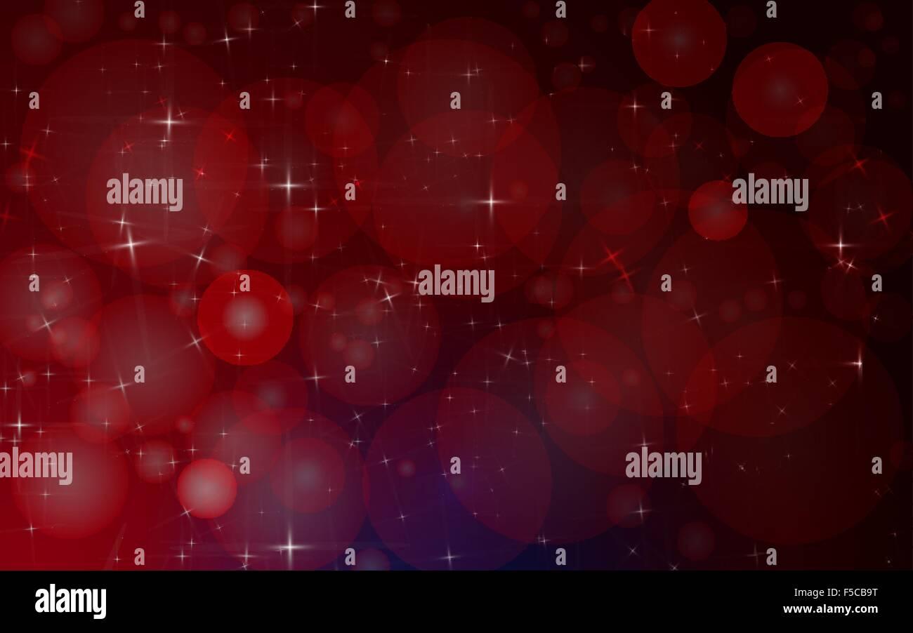 Résumé fond est rouge avec des cercles et des étoiles.Vector Photo Stock