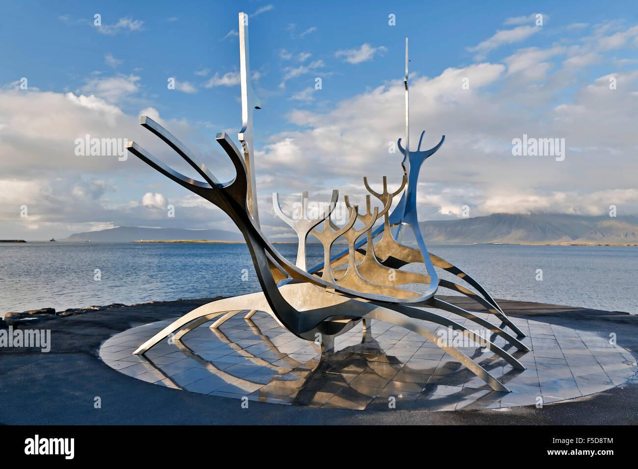 Bien Voyager (Solfar) Sculpture (Jon Gunnar Arnason, sculpteur), Reykjavik, Islande Photo Stock