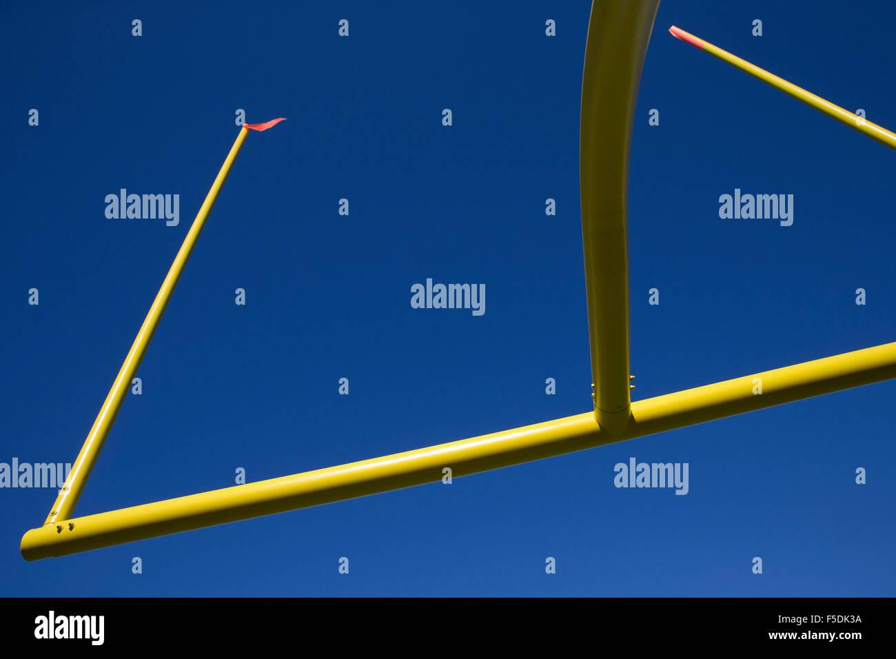 Poteau de but de football américain Photo Stock
