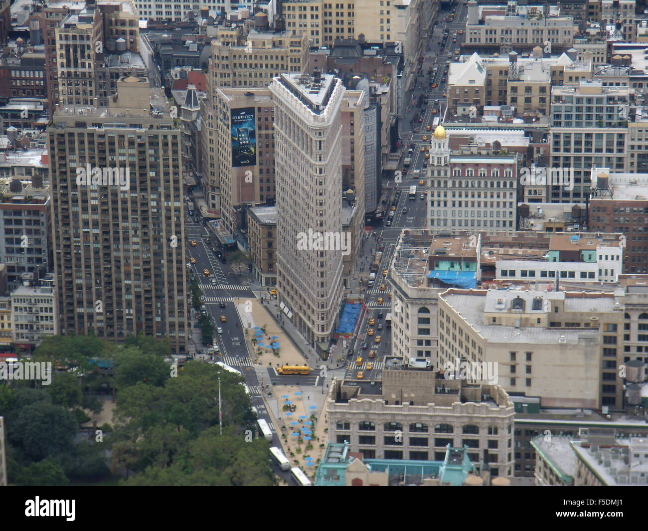 New York City Skyline, Flatiron building. Photo Stock
