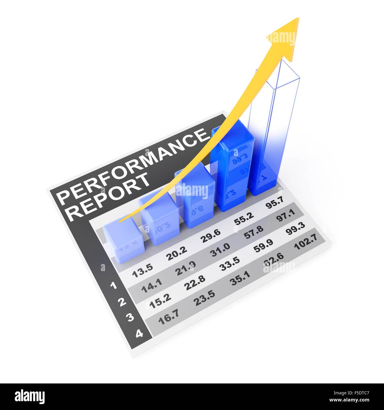 Objectifs de rendement pour l'entreprise Photo Stock