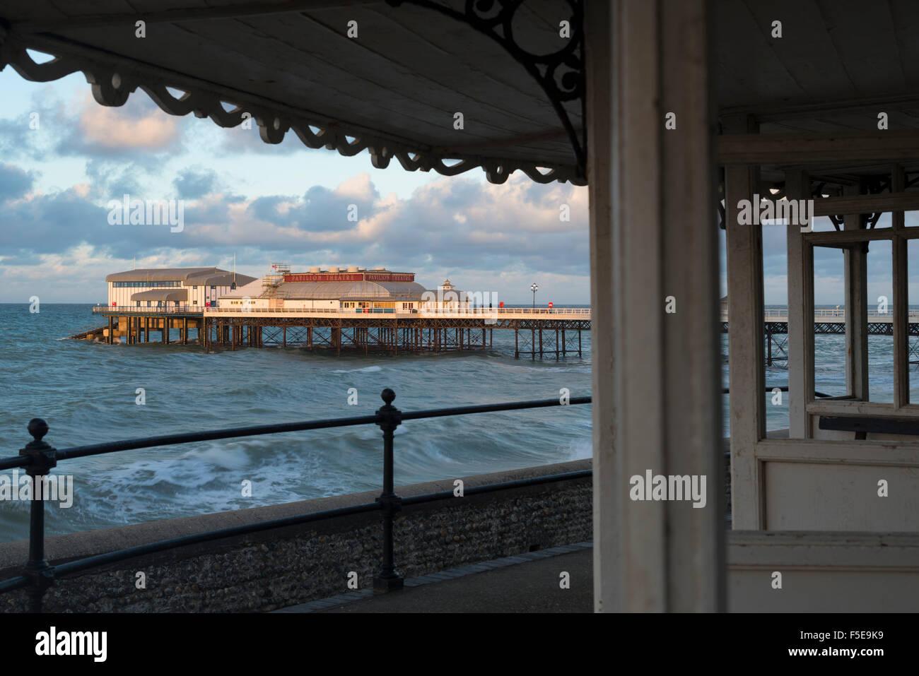 Une vue de la jetée de Cromer, Norfolk, Angleterre, Royaume-Uni, Europe Photo Stock