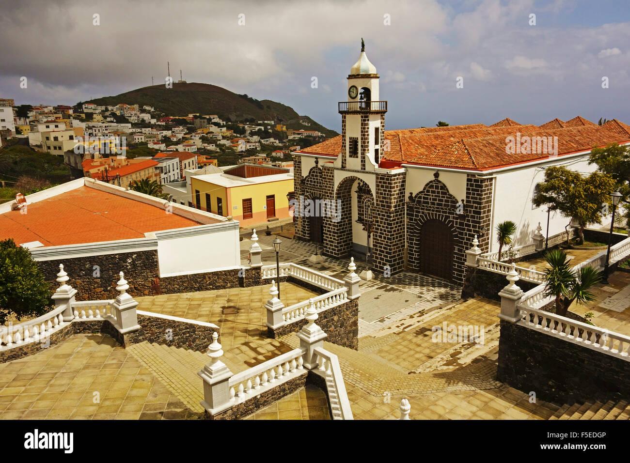 Iglesia Santa Maria de la Concepción, Valverde, El Hierro, Îles Canaries, Espagne, Europe Photo Stock