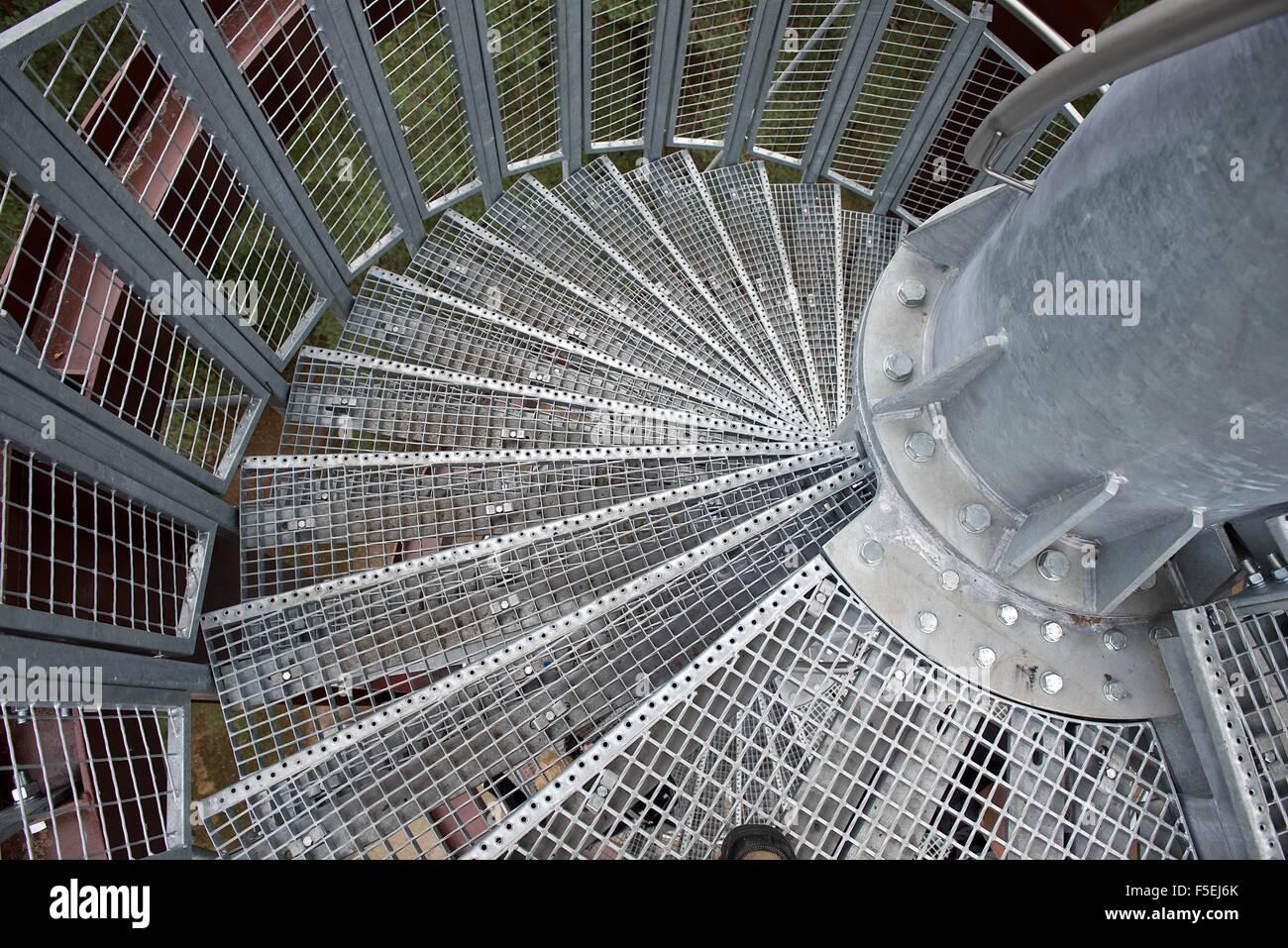 Point de vue personnel d'un métal en colimaçon Photo Stock